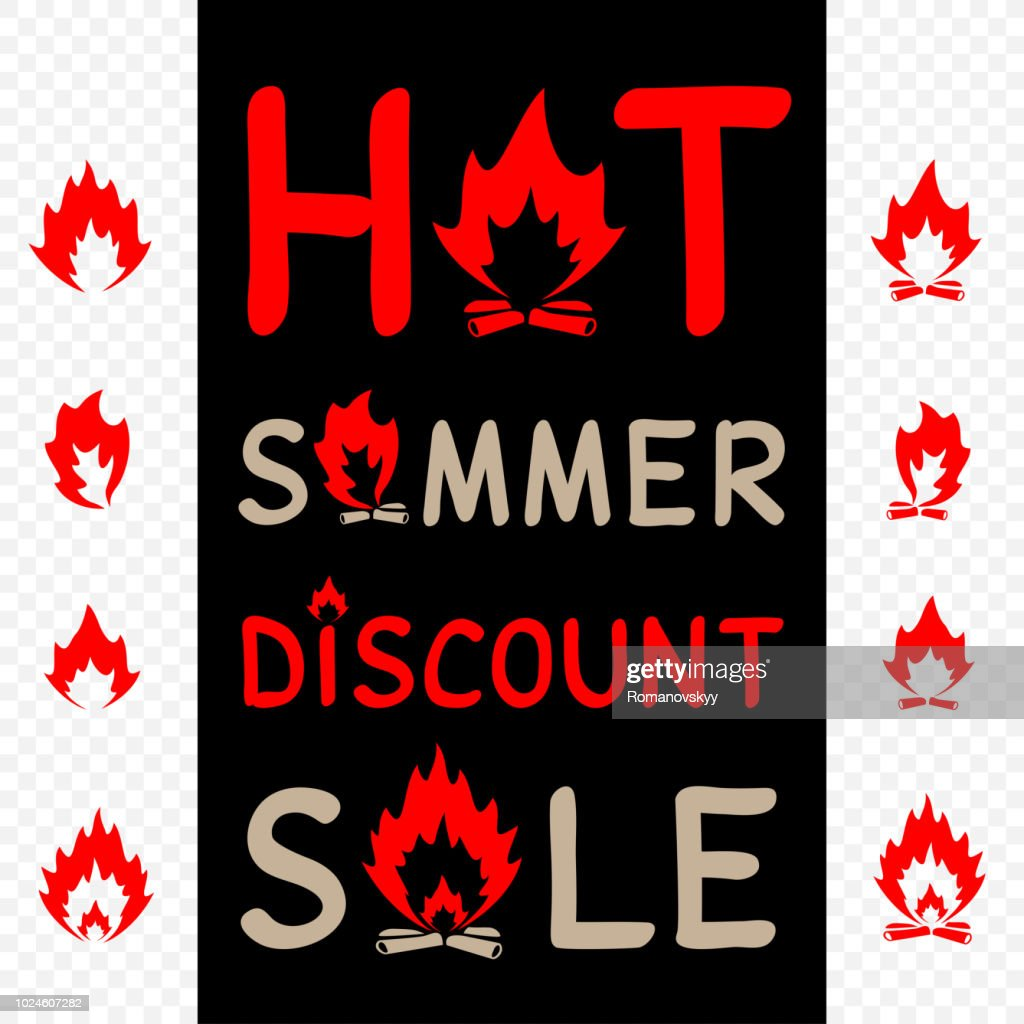 hot summer sale sign icon