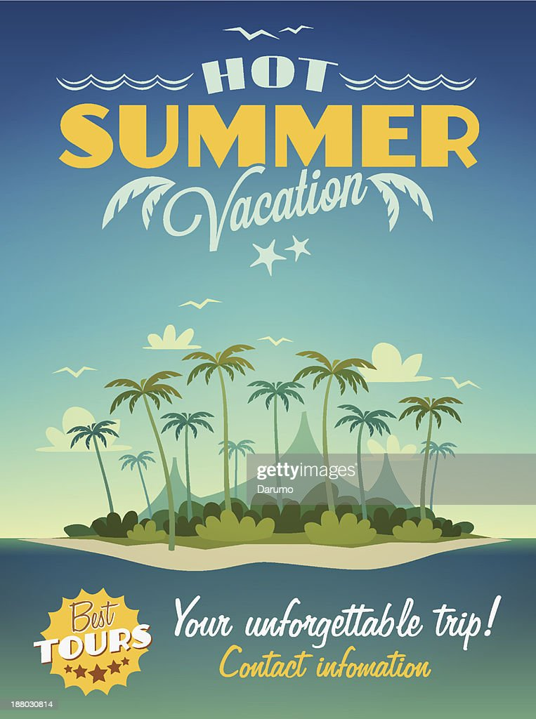 Hot summer vacation poster