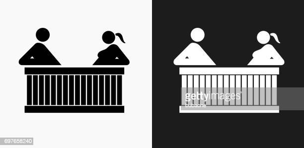 hot tub Icon on Black and White Vector Backgrounds