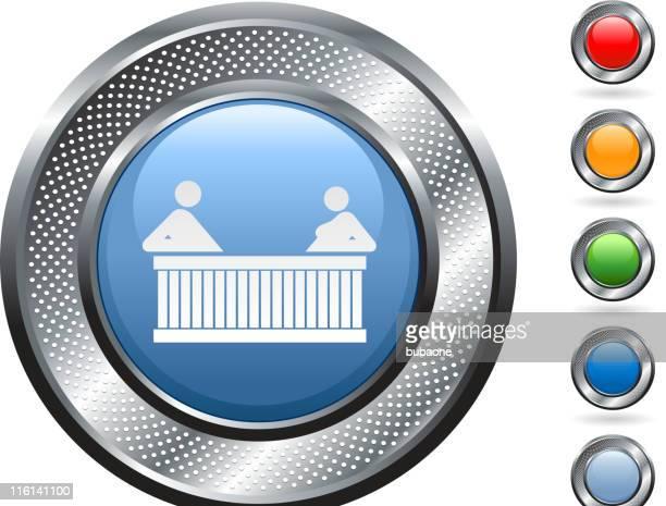ilustraciones, imágenes clip art, dibujos animados e iconos de stock de bañera de hidromasaje de arte vectorial libre de derechos sobre metálico botón - bañera con patas