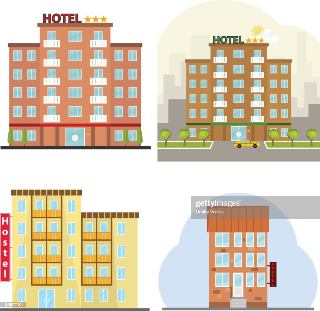 Hotel, a hotel suite, a hostel, a place to stay overnight.