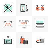 Hotel Accommodation Futuro Next Icons