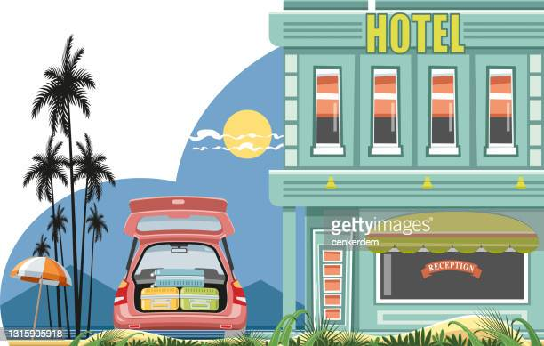 hotel and guests - guest stock illustrations