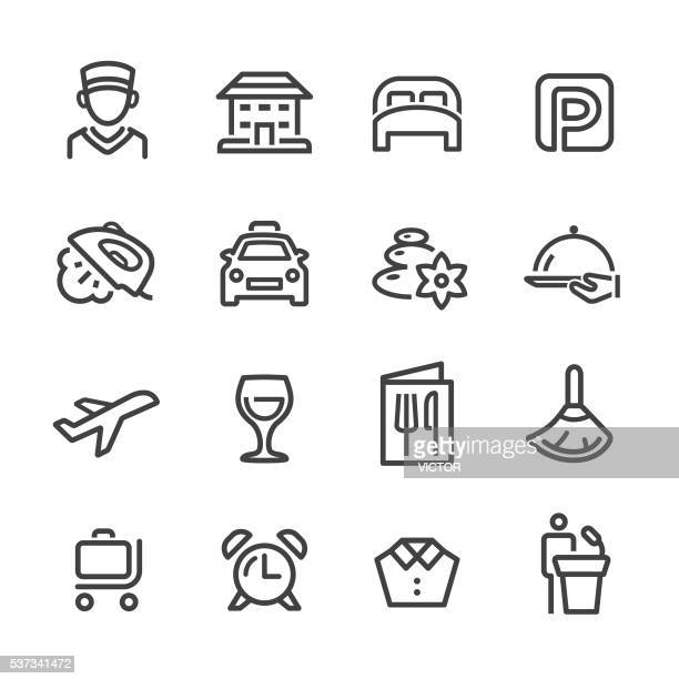 Hotel and Services Icons - Line Series