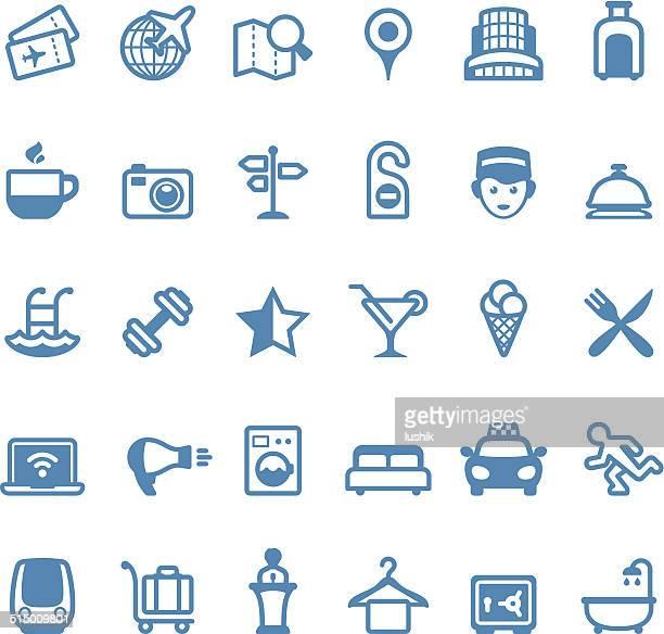 Hotels und reisen-icons/Linico series