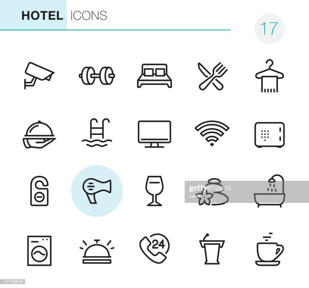 Hotel and Travel - Pixel Perfect icons