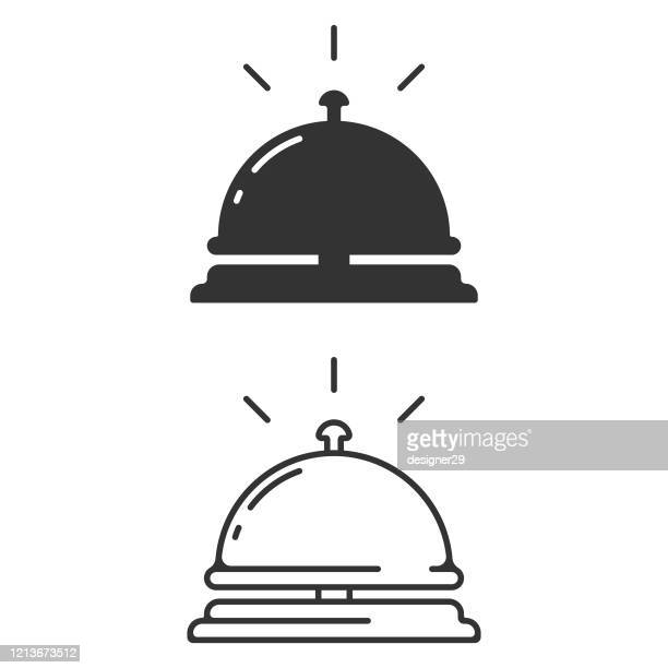 hotel bell icon. reception bell vector design on white background. - bell stock illustrations