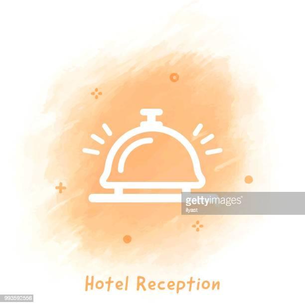 Hotel Doodle Icon Background