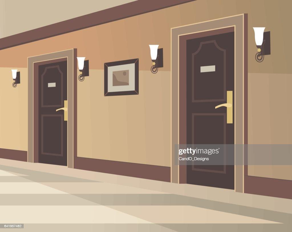 Hotel Hallway Vector Art | Getty Images