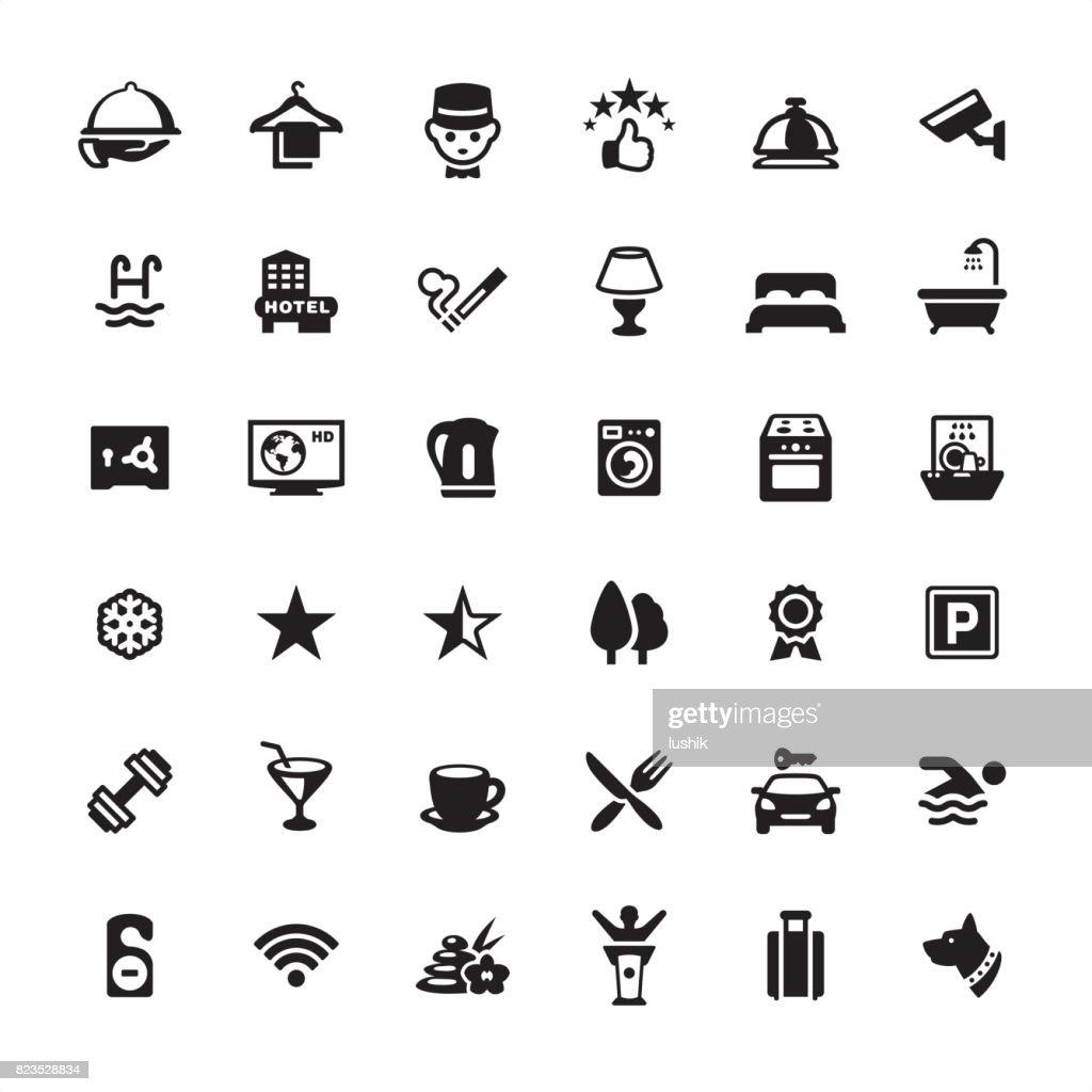 Hotel icon set