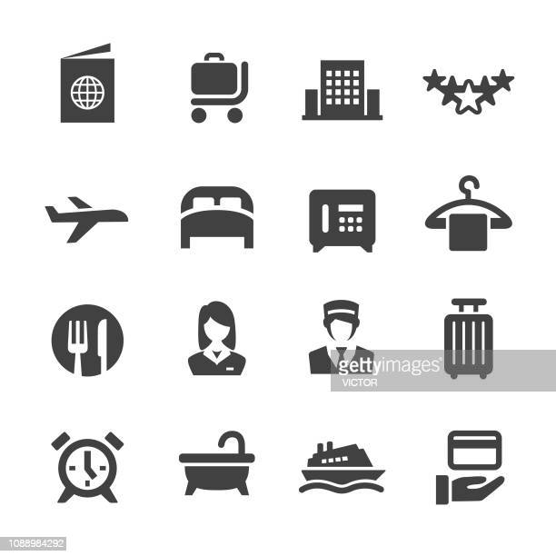 hotel icons - acme series - hotel stock illustrations