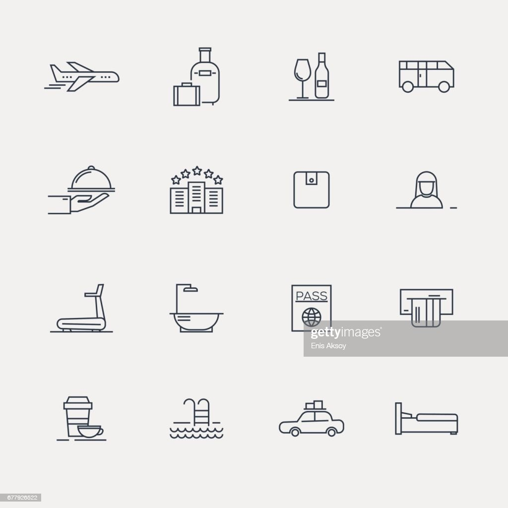 Hotel Icons - Line Series