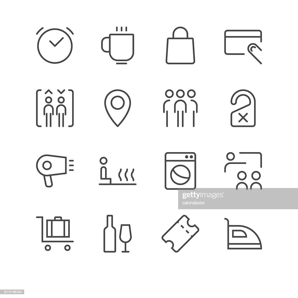 Hotel Icons set 2 | Black Line series