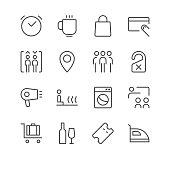 Hotel Icons set 2 | Black Line series