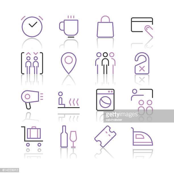 Hotel Icons set 2 | Purple Line series