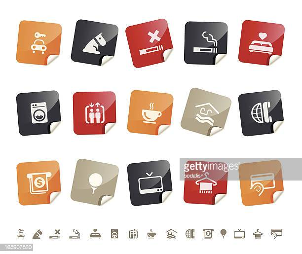 hotel icons | sticky series