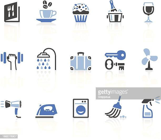 hotel icons - ice bucket stock illustrations, clip art, cartoons, & icons