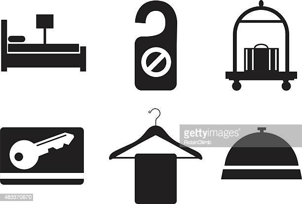 hotel icons - cardkey stock illustrations, clip art, cartoons, & icons