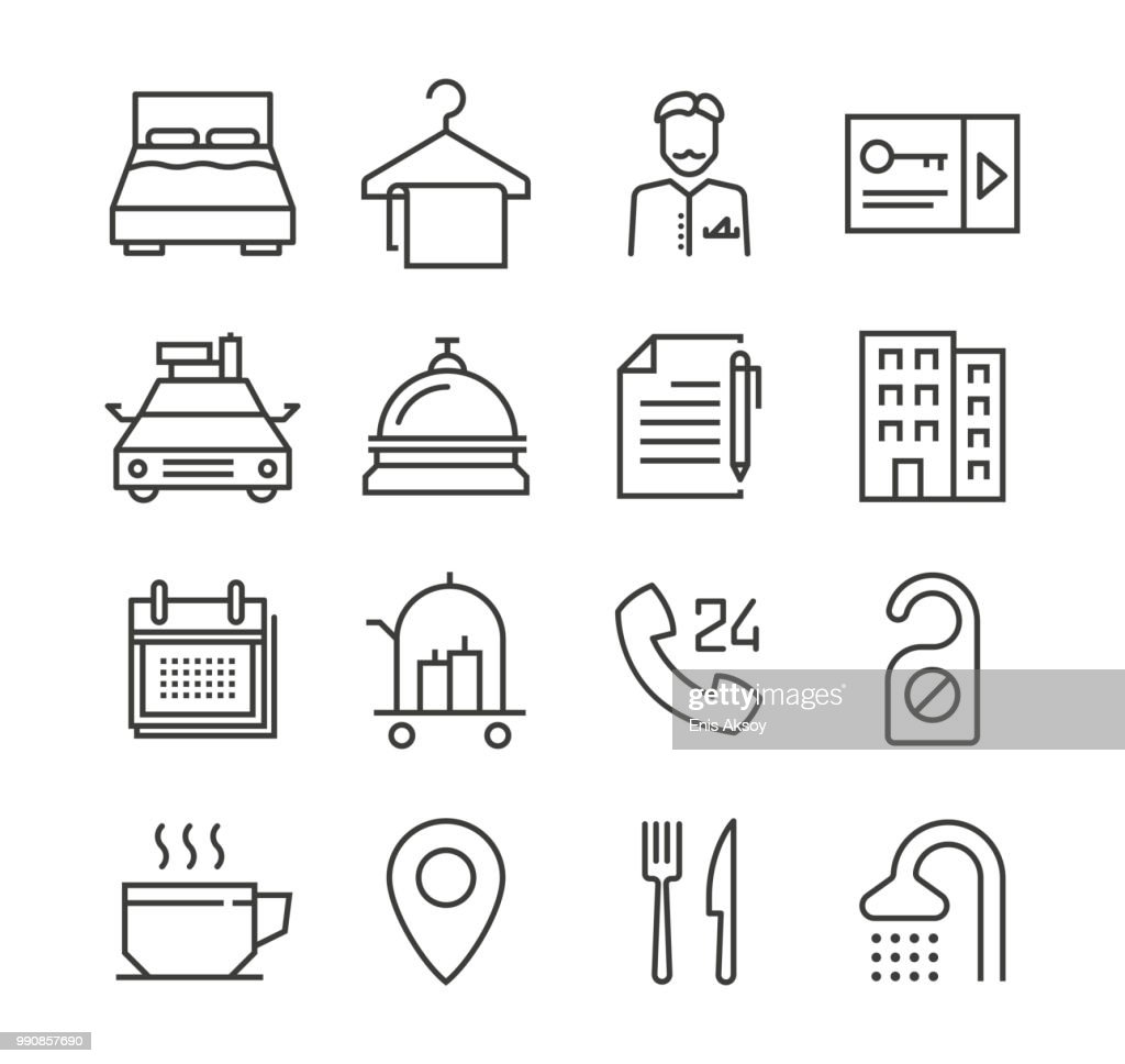 Hotel Icons : Stock Illustration