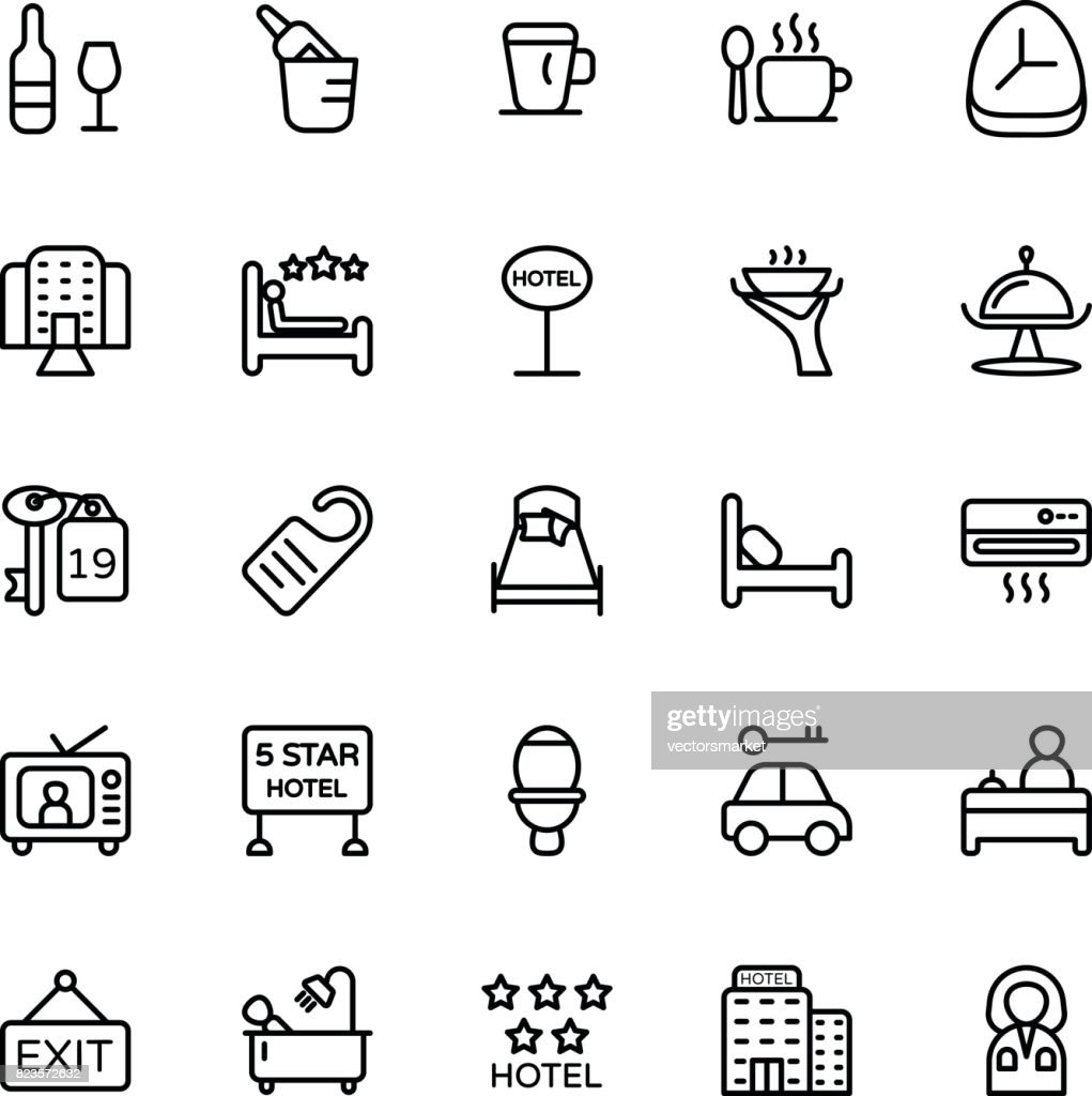 Hotel Line Vector Icons 3