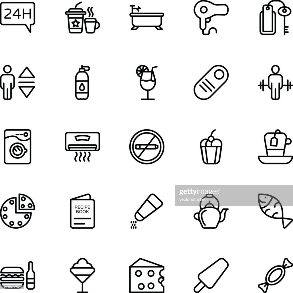 Hotel Line Vector Icons 5