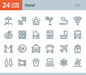 Hotel - line vector icons