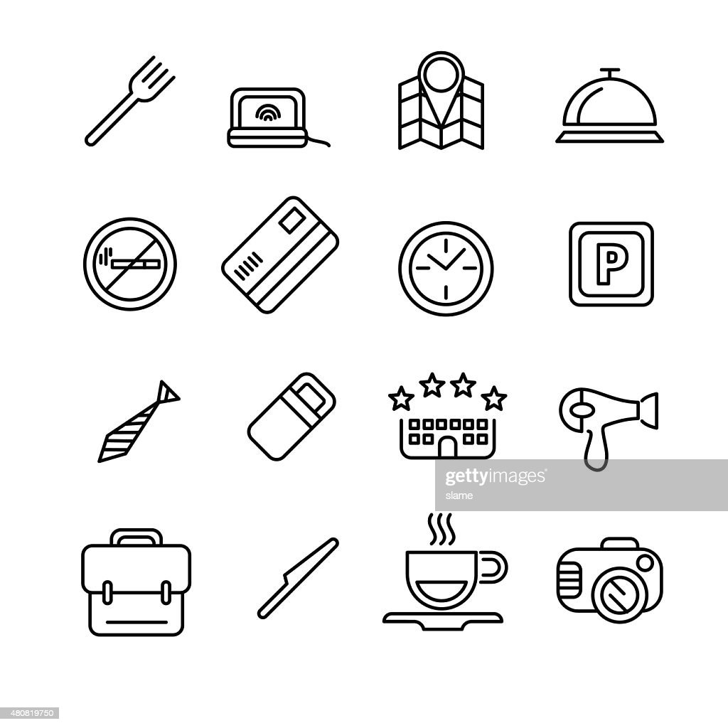Hotel or apartments and travel icon
