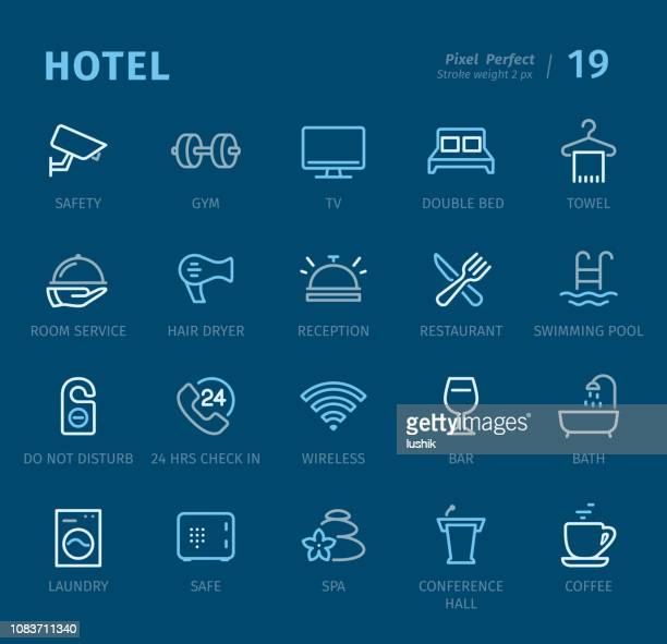 Hotel - Outline icons with captions