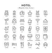 Hotel - Regular Line Icons