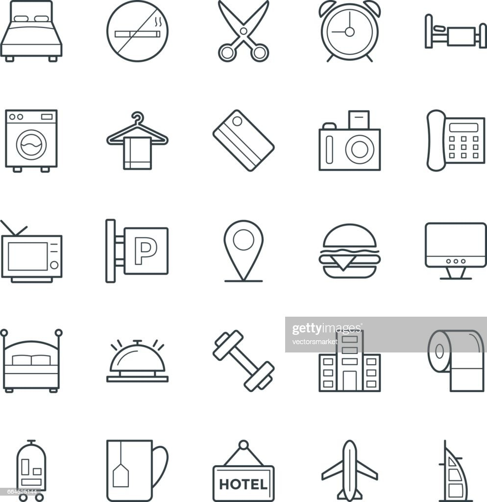 Hotel & Restaurant Cool Vector Icons 1