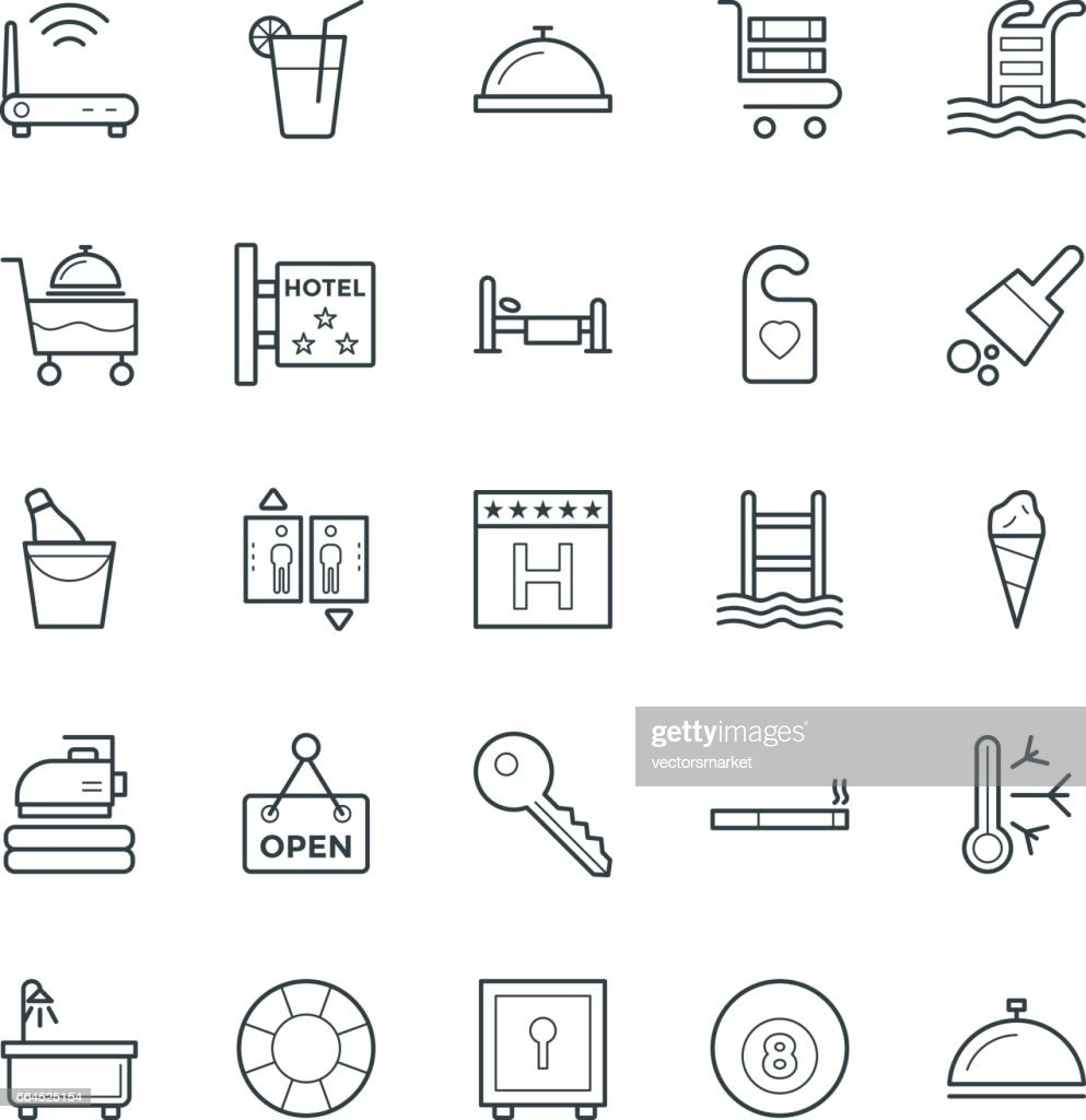 Hotel & Restaurant Cool Vector Icons 2