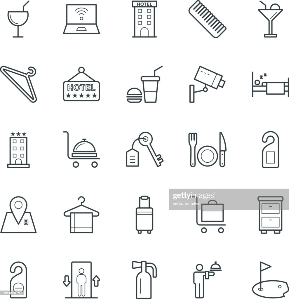 Hotel & Restaurant Cool Vector Icons 3