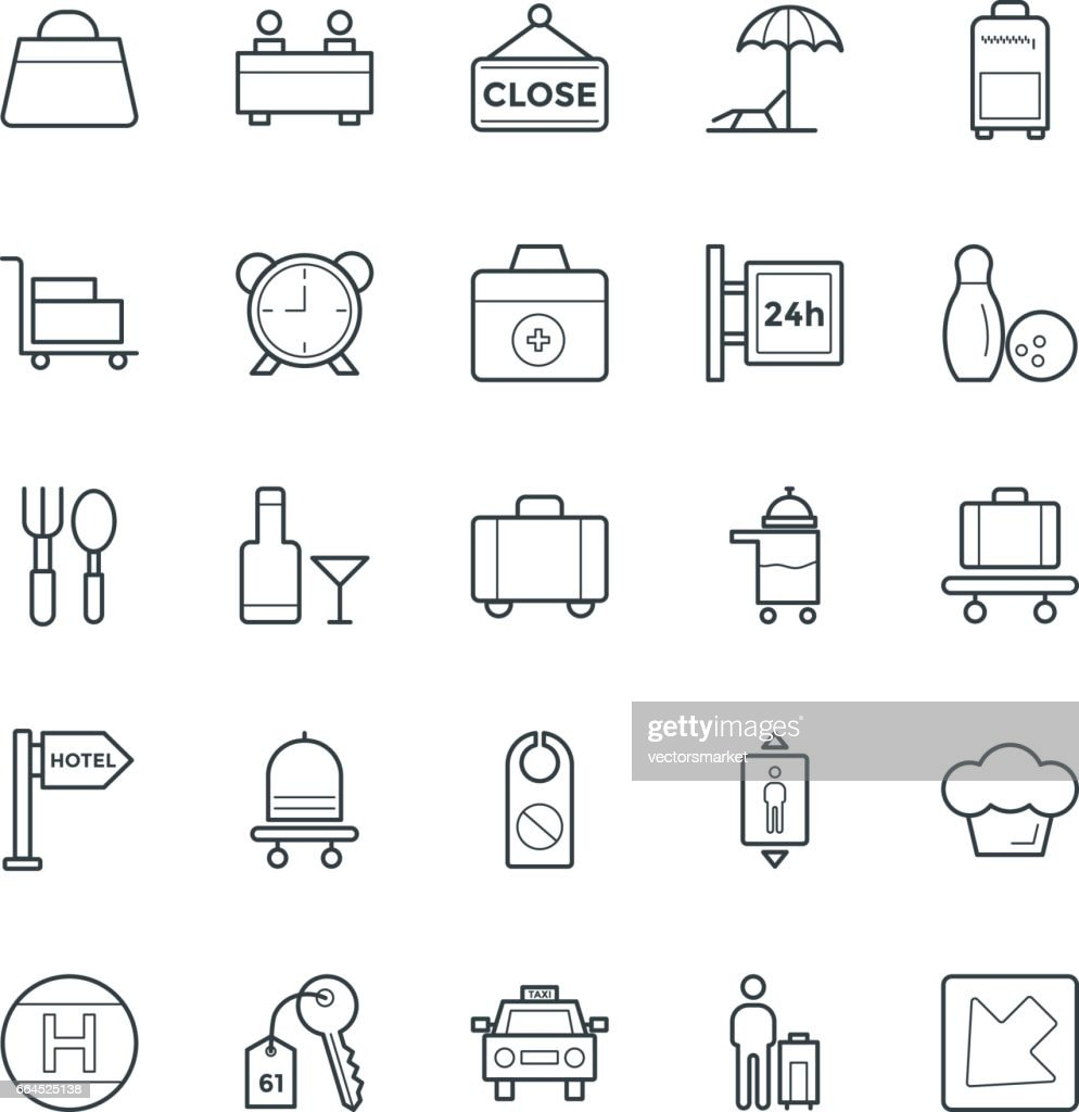 Hotel & Restaurant Cool Vector Icons 4