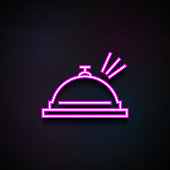 hotel ring icon. Element of Minimalistic  icons for mobile concept and web apps. Neon hotel ring icon can be used for web and mobile