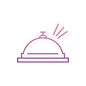 hotel ringicon in Nolan style. One of web collection icon can be used for UI, UX