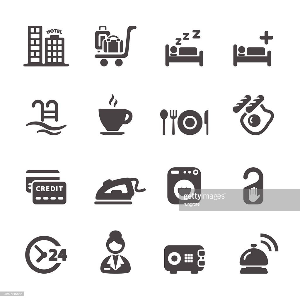 hotel service icon set 8, vector eps10