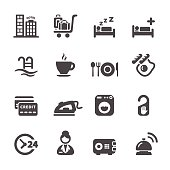 Hotel Concept Set Service Icon 8 Vector Eps10