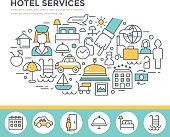 Hotel services concept illustration.