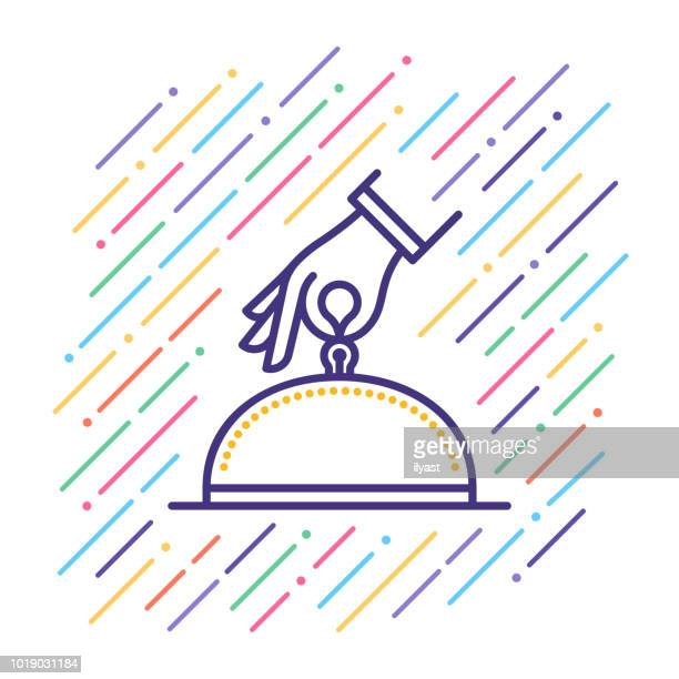 hotel services line icon - hotel stock illustrations