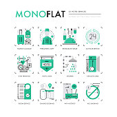 Hotel Services Monoflat Icons