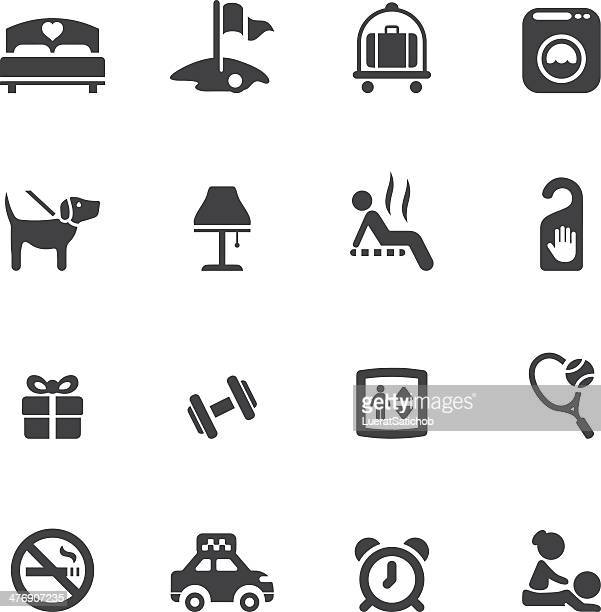 Hotel Silhouette icons 2