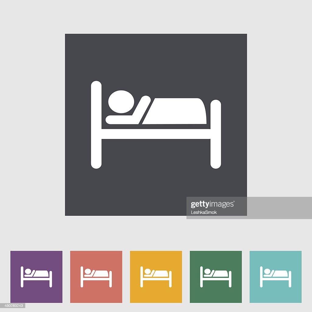 Hotel single icon.