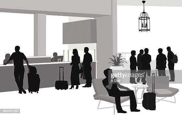hotel'n travel - checkout stock illustrations, clip art, cartoons, & icons