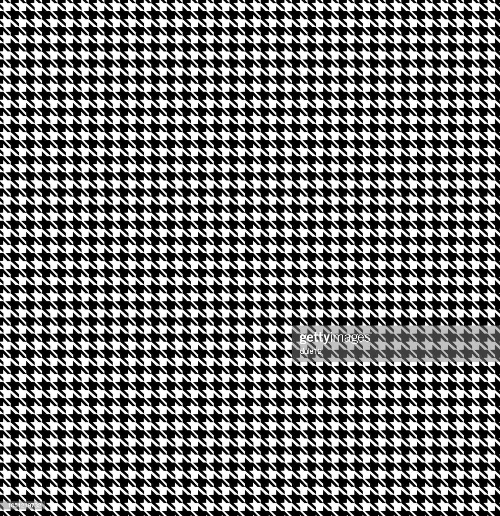 Houndstooth Monochrome Seamless Pattern Background