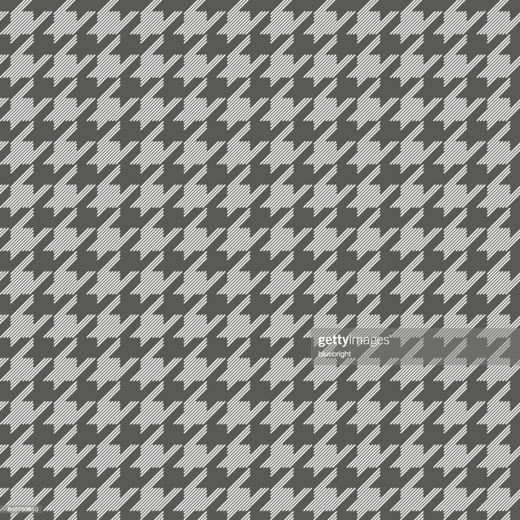 Houndstooth Pattern Grey