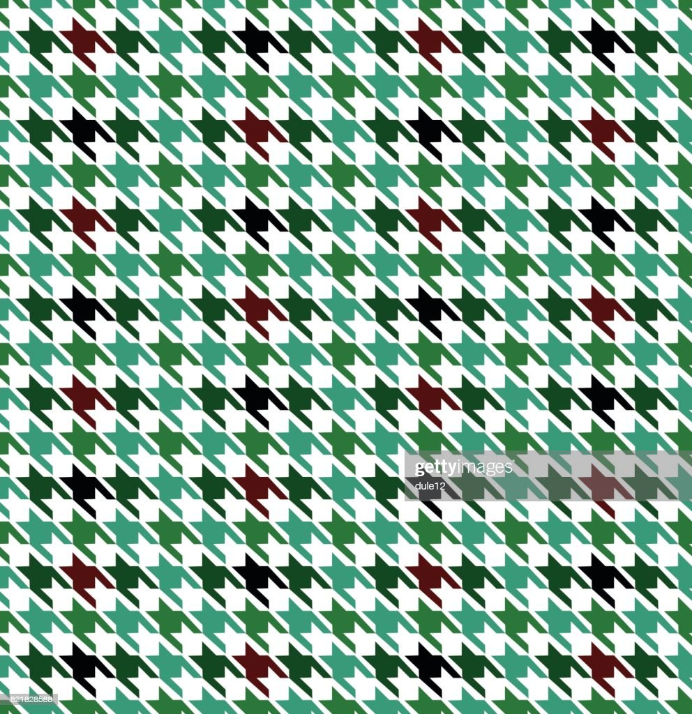 Houndstooth Pattern Seamless Design