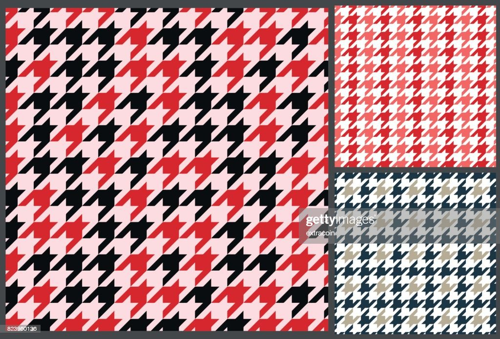 houndstooth patterns set for clothes