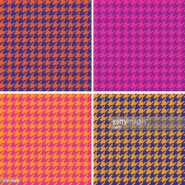 ilustraciones, imágenes clip art, dibujos animados e iconos de stock de patrón perfecto de pata de gallo - patchwork