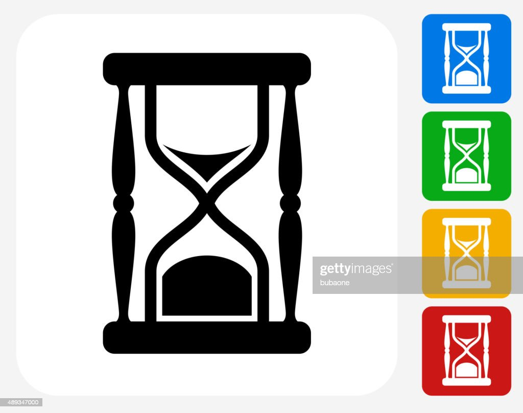 hourglass icon flat graphic design vector art getty images