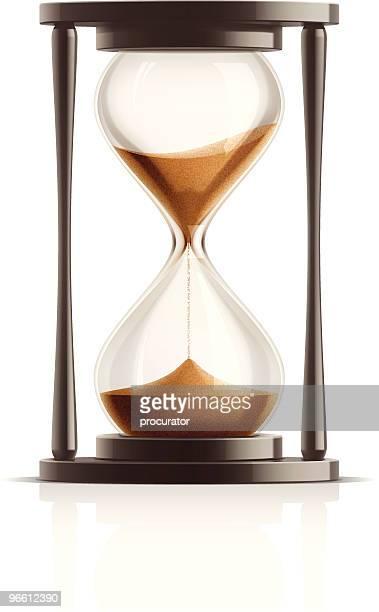 ilustrações, clipart, desenhos animados e ícones de ampulheta - cronômetro instrumento para medir o tempo